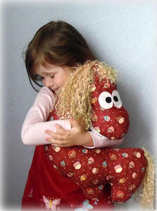 """Текстиль, ковры ручной работы. Ярмарка Мастеров - ручная работа. Купить Подушка-игрушка """"Моя любимая лошадка"""". Handmade. Лошадка"""