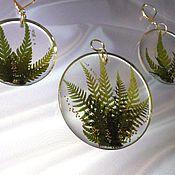 Украшения handmade. Livemaster - original item Witch`s talisman (set, fern, jewelry resin). Handmade.