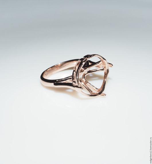 """Для украшений ручной работы. Ярмарка Мастеров - ручная работа. Купить Основа для кольца """"Анна""""(15.5 мм) - золочение 585 пробы. Handmade."""