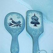 """Сувениры и подарки ручной работы. Ярмарка Мастеров - ручная работа Зеркало и расческа """"Sweet Home"""". Handmade."""