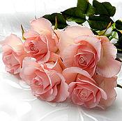 Цветы и флористика ручной работы. Ярмарка Мастеров - ручная работа Розовый букет. Handmade.