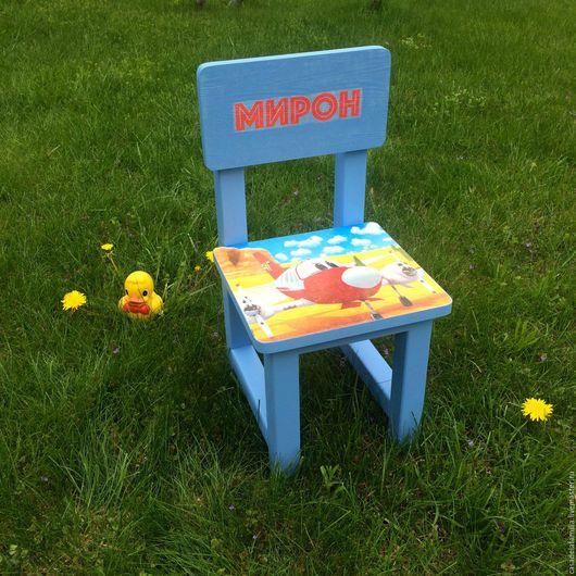 """Детская ручной работы. Ярмарка Мастеров - ручная работа. Купить Детский стул """"Самолет"""". Handmade. Для детской комнаты"""