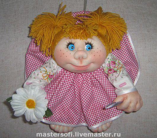"""Человечки ручной работы. Ярмарка Мастеров - ручная работа. Купить Кукла попик """"кукла на удачу"""". Handmade. Подарок, кукла, капрон"""