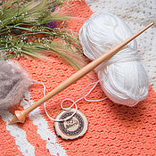 Материалы для творчества handmade. Livemaster - original item The spindle for spinning the Siberian Cedar Wooden spindle #B20. Handmade.