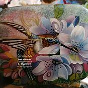 Шкатулки ручной работы. Ярмарка Мастеров - ручная работа Лаковая шкатулка Колибри и цветы. Handmade.