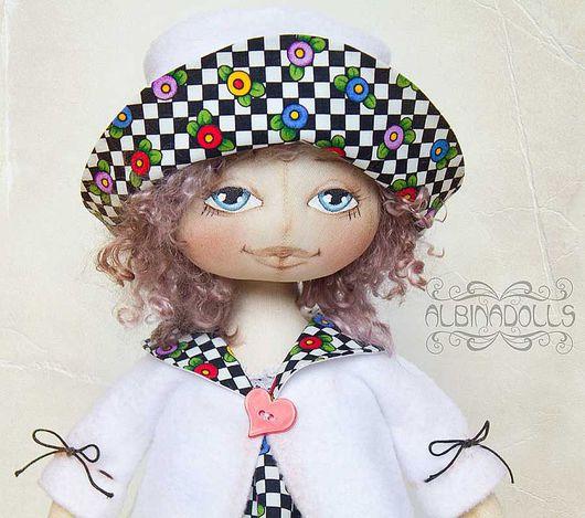 Коллекционные куклы ручной работы. Ярмарка Мастеров - ручная работа. Купить Нина. Handmade. Интерьерная кукла, американский хлопок