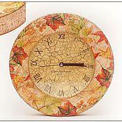 """Для дома и интерьера ручной работы. Ярмарка Мастеров - ручная работа Часы """"Письма осени"""". Handmade."""