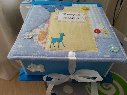 Подарки для новорожденных, ручной работы. Ярмарка Мастеров - ручная работа. Купить Коробочка мамины сокровища. Handmade. Мамины сокровища