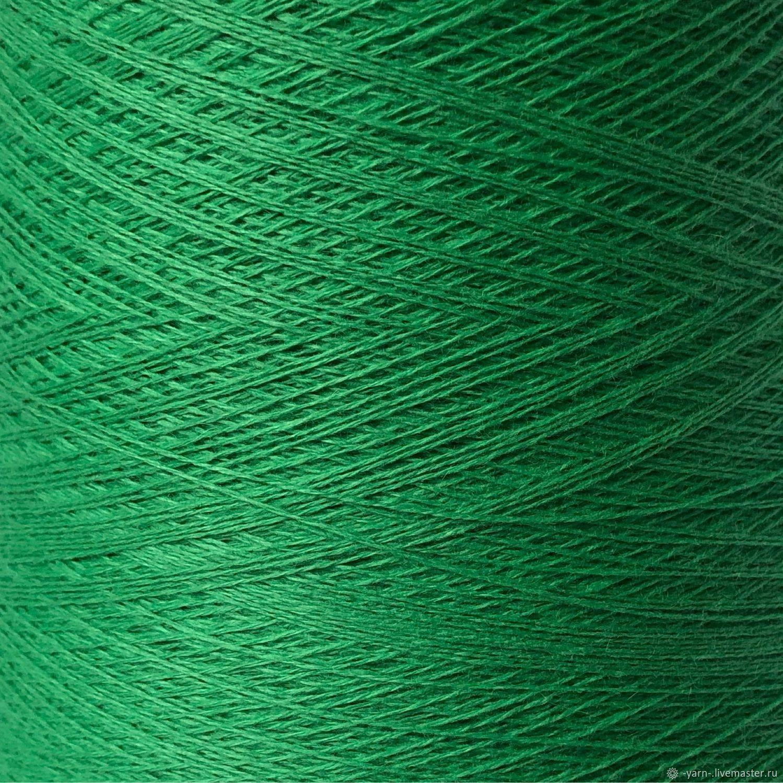 Пряжа Кашемир 2/28 молодая зелень – купить на Ярмарке Мастеров – NES92RU | Пряжа, Санкт-Петербург
