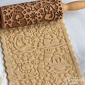 Посуда handmade. Livemaster - original item ARCTIC - Engraved rolling pin Texturra. Handmade.