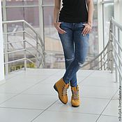 Обувь ручной работы handmade. Livemaster - original item Shoes felted orange-3. Handmade.