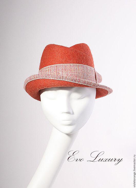 Купить шляпу федора. Designer Ushakova Elena Milliner Мои шляпы выходят в свет под брендом Evo Luxury. Эскиз, валяние колпака, формовка шляпы и декор выполнены мною полностью вручную.