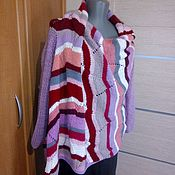 Одежда handmade. Livemaster - original item Cardigan knitted striped. Handmade.