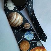 Аксессуары handmade. Livemaster - original item Space tie hand-painted natural silk. Handmade.