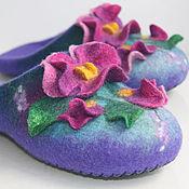 """Обувь ручной работы. Ярмарка Мастеров - ручная работа Тапочки """"Анютки 4"""".. Handmade."""