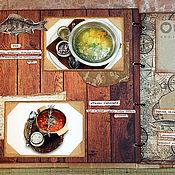 Канцелярские товары ручной работы. Ярмарка Мастеров - ручная работа Фотоальбом-меню для рестора. Handmade.