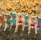 Куклы и игрушки ручной работы. Ярмарка Мастеров - ручная работа Коты в штанишках. Handmade.