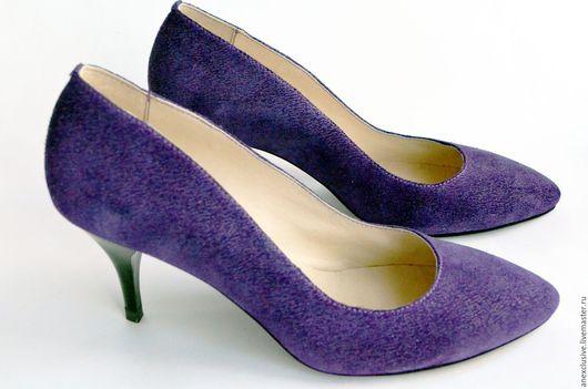 """Обувь ручной работы. Ярмарка Мастеров - ручная работа. Купить Туфли """"Сирень"""". Handmade. Тёмно-фиолетовый, классические туфли, туфли"""
