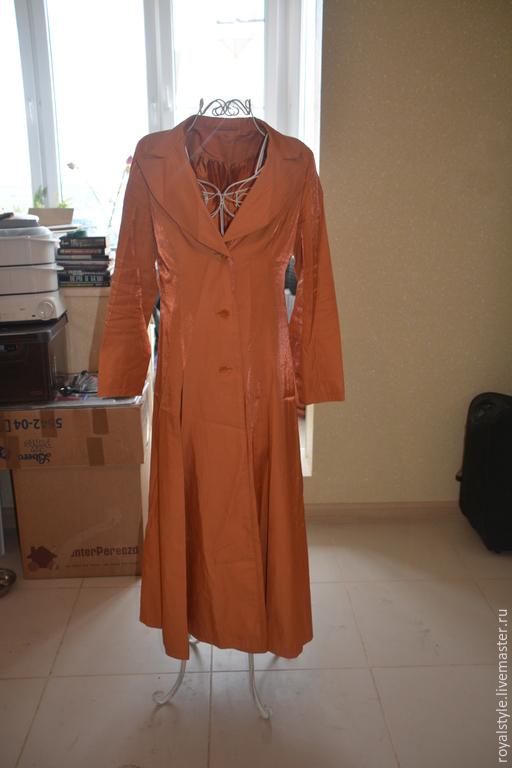 Верхняя одежда ручной работы. Ярмарка Мастеров - ручная работа. Купить Плащ рыжий. Ручная работа. точная копия  ESCADA. Handmade.
