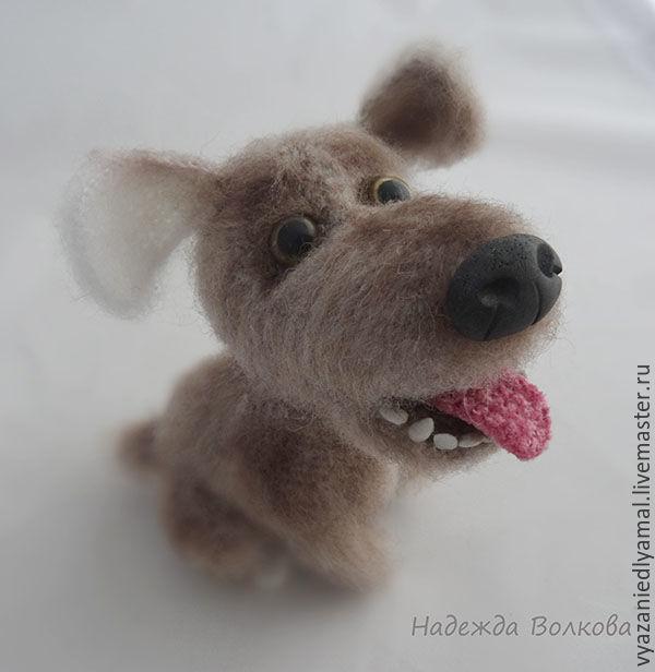 The puppy is knitted, cute pooch Fido, Stuffed Toys, Rybinsk,  Фото №1