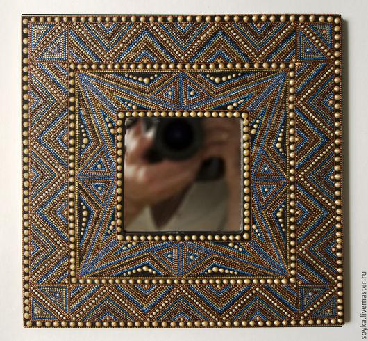 Зеркала ручной работы. Ярмарка Мастеров - ручная работа. Купить Золото ацтеков. Handmade. Декор интерьера, Этнический стиль