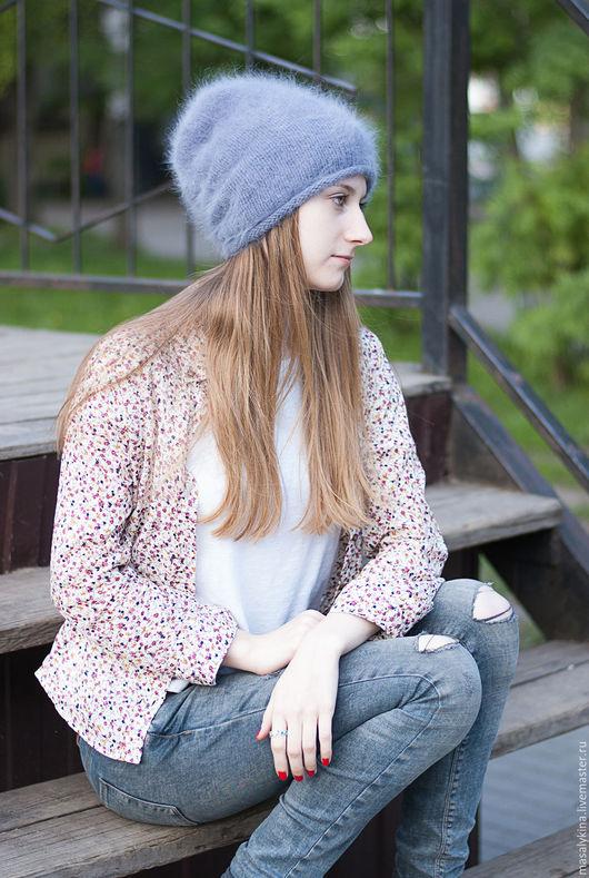 Шапки ручной работы. Ярмарка Мастеров - ручная работа. Купить Вязаная шапка Fluffy из Angora Prestige Anny Blatt. Handmade.