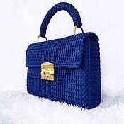 """Классическая сумка ручной работы. Ярмарка Мастеров - ручная работа Синяя женская сумка """"Топаз"""". Handmade."""