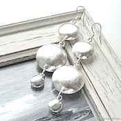Украшения handmade. Livemaster - original item Earrings long large light visible, silver, girl, gift. Handmade.