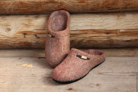 """Обувь ручной работы. Ярмарка Мастеров - ручная работа. Купить Валяные тапочки """"КОМФОРТ"""". Handmade. Тапочки, подарок девушке"""