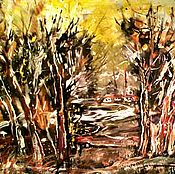 Картины и панно ручной работы. Ярмарка Мастеров - ручная работа Картина Дорога домой. Handmade.