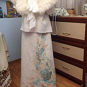 """Одежда ручной работы. Ярмарка Мастеров - ручная работа Юбка валяная """"Бирюзовый цветок"""". Handmade."""
