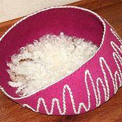 Для домашних животных, ручной работы. Ярмарка Мастеров - ручная работа Открытая лежанка для кошечки. Handmade.