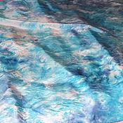 """Аксессуары ручной работы. Ярмарка Мастеров - ручная работа Шелковый платок """"Голубая даль"""". Handmade."""