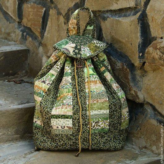 """Рюкзаки ручной работы. Ярмарка Мастеров - ручная работа. Купить Рюкзак """"Лесная сказка"""". Handmade. Тёмно-зелёный, рюкзак женский"""