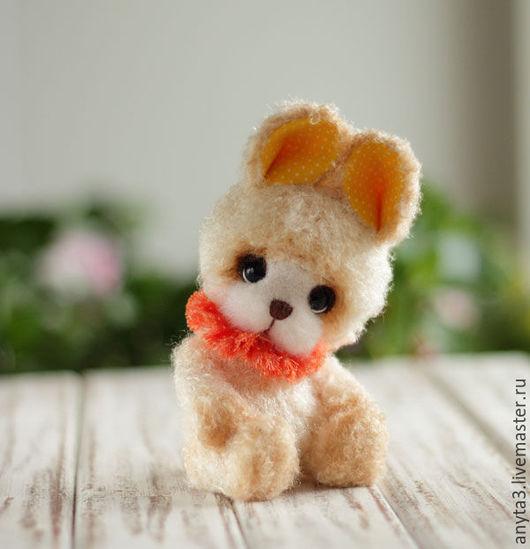Мишки Тедди ручной работы. Ярмарка Мастеров - ручная работа. Купить Зайчик вязанная игрушка. Handmade. Зайчик игрушка