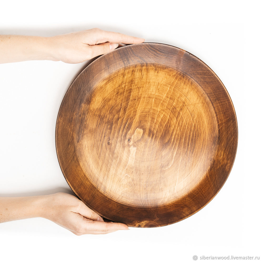 Wooden plate dish Siberian Cedar dishes for kitchen #T109, Plates, Novokuznetsk,  Фото №1