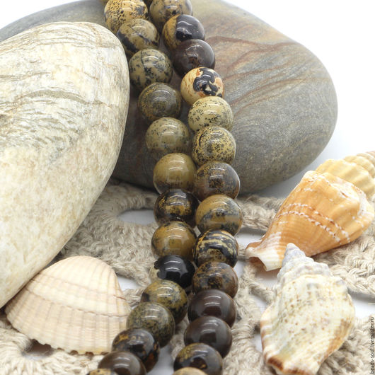 Для украшений ручной работы. Ярмарка Мастеров - ручная работа. Купить Яшма песочная бусины шар 8мм - арт.7-18. Handmade.