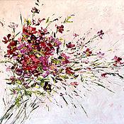 Открытки ручной работы. Ярмарка Мастеров - ручная работа Открытка букет розовых цветов на бежевом фоне. Handmade.