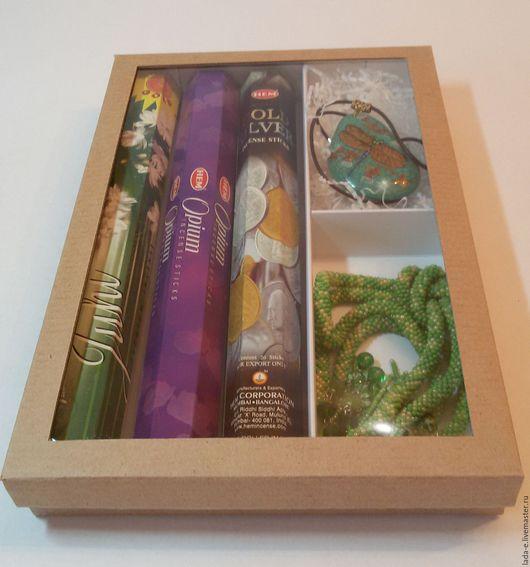 Подарочная упаковка ручной работы. Ярмарка Мастеров - ручная работа. Купить Коробка с секциями из микрогофрокартона. Handmade. Упаковка, стекло, микрогофрокартон