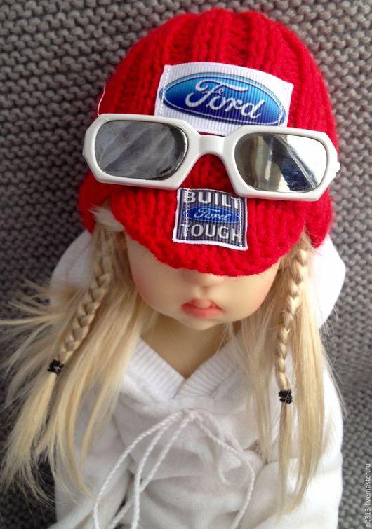 Одежда для кукол ручной работы. Ярмарка Мастеров - ручная работа. Купить Бейсболка для куклы. Handmade. Ярко-красный, шапочка вязаная