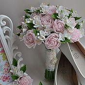 Цветы и флористика handmade. Livemaster - original item A bouquet of Jasmine roses from cold porcelain. Handmade.