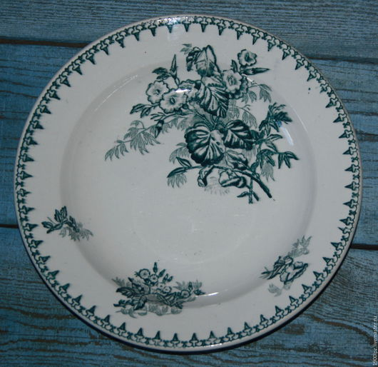 Винтажная посуда. Ярмарка Мастеров - ручная работа. Купить Старая (30-е годы) тарелка для КАШИ.. Handmade. Белый