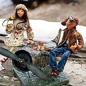 """Куклы и игрушки ручной работы. Ярмарка Мастеров - ручная работа """"Прилетели..."""". Handmade."""