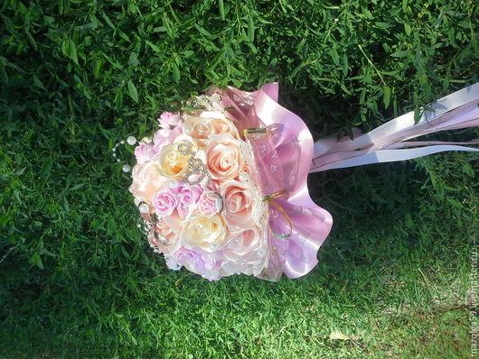 Свадебные цветы ручной работы. Ярмарка Мастеров - ручная работа. Купить букет дублер для невесты. Handmade. Бледно-розовый