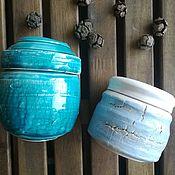 """Банки ручной работы. Ярмарка Мастеров - ручная работа Комплект банок """"Зимнее небо"""". Handmade."""