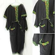 Одежда ручной работы. Ярмарка Мастеров - ручная работа Костюм изо льна  48 размер ,туника, и штанишки с карманами 48. Handmade.