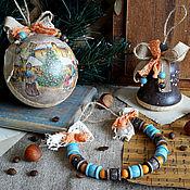 Подарки к праздникам ручной работы. Ярмарка Мастеров - ручная работа Ярмарка - набор елочных игрушек.... Handmade.