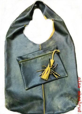 Женские сумки ручной работы. Ярмарка Мастеров - ручная работа. Купить сумка-мешок с кошельком. Handmade. Коричневый, с кошельком