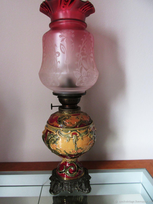 Kerosene Lamp Majolica Austria Hand Painted 19th Century Kupit Na Yarmarke Masterov Gcuwvcom Predmety Interera Vintazhnye Prague