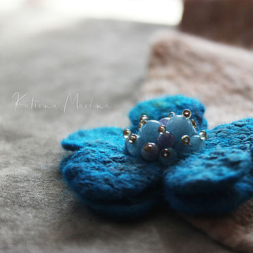 Decorations handmade. Livemaster - original item brooches: Set of felted brooches